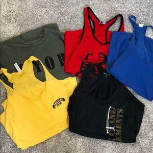 Tops - SALE 6 Piece Workout tank top bodybuilding bundle